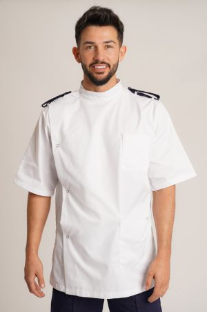 Male Dental Tunic with Epaulette Loops